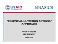 """""""ESSENTIAL NUTRITION ACTIONS"""" APPROACH - basics"""