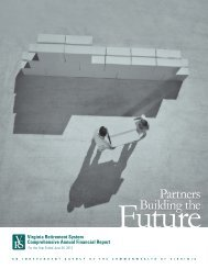 Comprehensive Annual Financial Report of Virginia Retirement ...