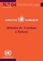 Métodos de Combate à Tortura - Direitos Humanos - Gabinete de ...