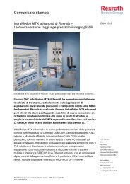 IndraMotion MTX advanced - Bosch Rexroth