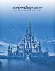 2008 corporate responsibility report - The Walt Disney Company
