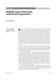 nanotıp: yaşam bilimlerinde nanoteknoloji uygulamaları - Hacettepe ...