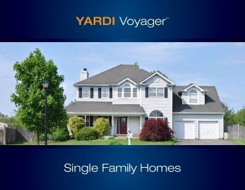 YARDI Voyager™ Single Family Homes