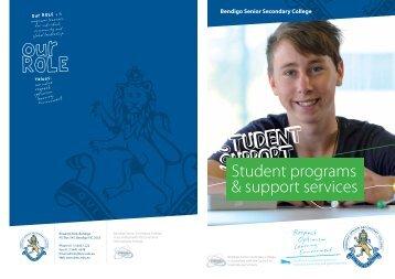 Student programs & support services - Bendigo Senior Secondary ...