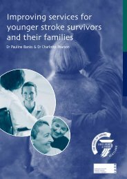 Improving services for younger stroke survivors and their families