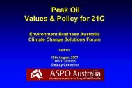 EBA Climate Change Seminar 13th August 2007 - Australian ...