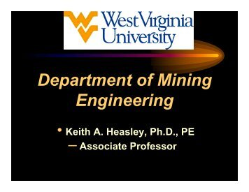 Department of Mining Engineering - CEMR