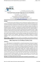 Nitretação Gasosa em alta Temperatura de Aços Inoxidáveis ... - USP