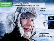 Tulos 2012 - GlobeNewswire