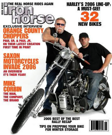 orange county choppers mike corbin saxon motorcycles invade 2006