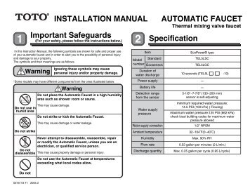 Important Safeguards INSTALLATION MANUAL AUTOMATIC ...