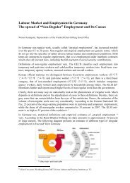 Labour market and employment in Germany : the spread of