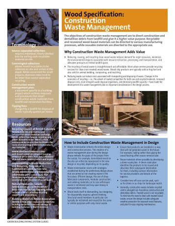 Construction Waste management - Naturally:wood