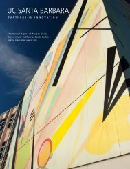UC SANTA BARBARA - Institutional Advancement - University of ...