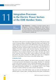Integration processes in the Electric power Sectors of the EDB ...