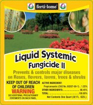 Label 11378 Liquid Systemic Fungicide II Approved 09 ... - Fertilome