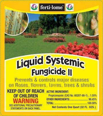 Label 11378 Liquid Systemic Fungicide II Approved 09 ... - Fertilome