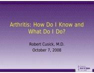 Arthritis: How Do I Know and What Do I Do?