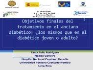 Objetivos finales del tratamiento en el anciano diabético: ¿los ...