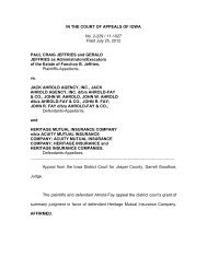 IN THE COURT OF APPEALS OF IOWA No. 2-229 / 11-1027 Filed ...