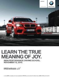 BMW Performance Driving School.