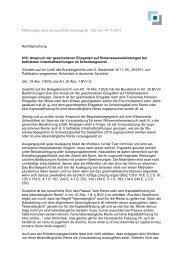 Mitteilungen über die berufliche Vorsorge Nr. 125 vom 14.12.2011 ...