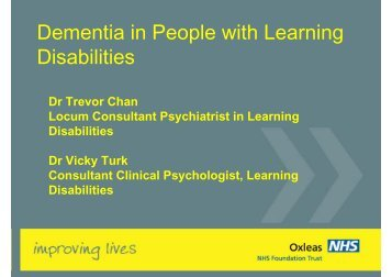 Dementia in People with Learning Disabilities