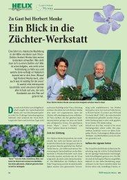 Ein Blick in die Züchter-Werkstatt - Helix Pflanzen