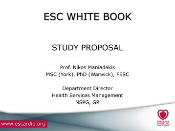 ESC White Book project