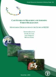 Monitoring degradation in the scope of REDD - FAO