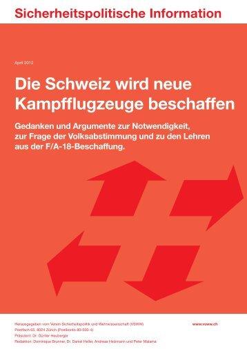 Die Schweiz wird neue Kampfflugzeuge beschaffen - PRO ...