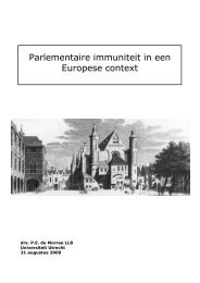 Parlementaire immuniteit in een Europese context - to Home