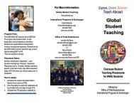 Global Student Teaching - Woodring College of Education - Western ...