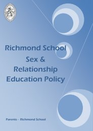 Sex and Relationship Education Policy - Richmond School