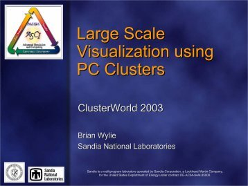 Large Scale Visualization using PC Clusters - Linux Clusters Institute