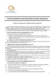 charte de déontologie des experts éléves ingénieurs - Commission ...