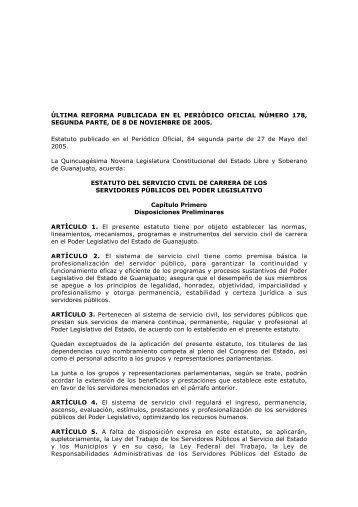 Estatuto del Servicio Civil de Carrera de los Servidores Públicos del ...