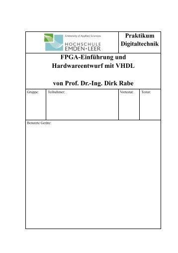 FPGA-Einführung und Hardwareentwurf mit VHDL von ... - Technik