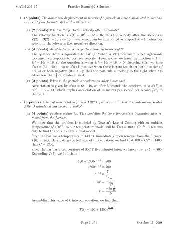 Practice Exam 2 Solutions