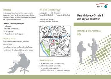 Flyer zur BEK - Berufsbildende Schule 6