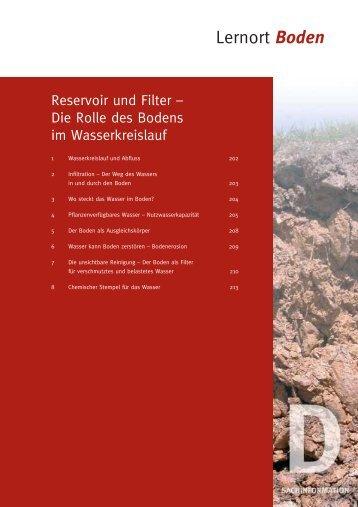 Die Rolle des Bodens im Wasserkreislauf - Bayerisches ...
