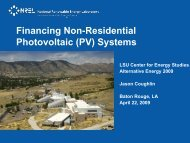 Non-Residential Photovoltaics - LSU Center for Energy Studies