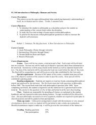 PL 100 Introduction to Philosophy: Humans and Society ... - Stars