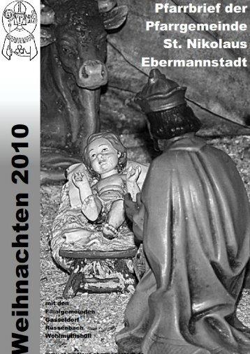 Pfarrbrief Weihnachten 2010 - St. Nikolaus