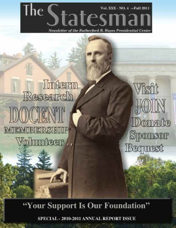 2011 Statesman Vol 4/Annual Report - The Rutherford B. Hayes ...