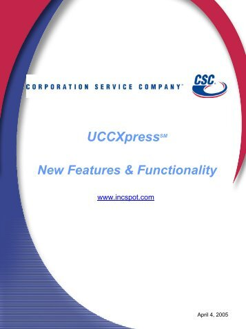 UCCXpressSM - Corporation Service Company
