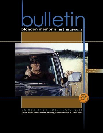 View Bulletin - Blanden Memorial Art Museum