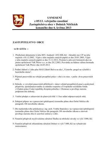 05-2013 - Obec Dolní Nětčice