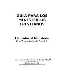 GUÍA PARA LOS MINISTERIOS CRISTIANOS - USA / Canada Region