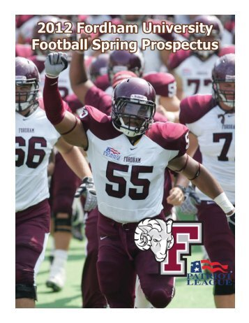 2012 Fordham Football Prospectus 2011 Final Statistics - Community